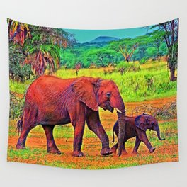 AnimalColor Elephant 003 Wall Tapestry