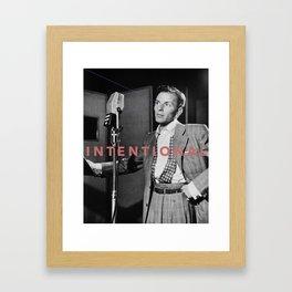 Intentional Frank Framed Art Print