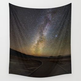 Grand Prismatic Spring Under The Milky Way Wall Tapestry
