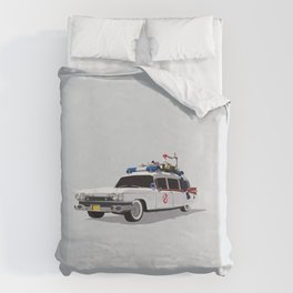 Ghostbusters Illustrated Ecto 1 Duvet Cover