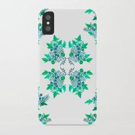 Blue Coralline Flowers iPhone Case