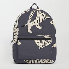 White tiger pattern 002 Backpack