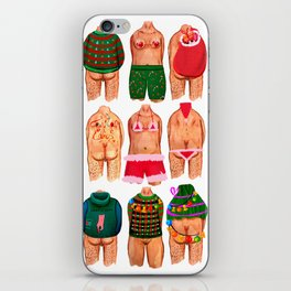 Christmas Gang iPhone Skin
