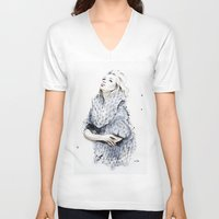 the neighbourhood V-neck T-shirts featuring Falling For You by anna hammer