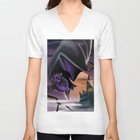 bat V-neck T-shirts featuring Bat by Brandon Heffron