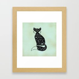 What Does The Fox Say? Framed Art Print