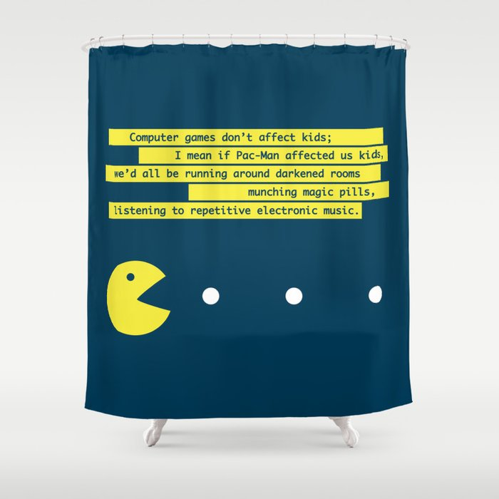 Computer Games Don't Affect Kids Shower Curtain