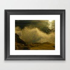Waves against the Cliffs  Framed Art Print