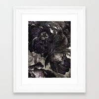 goth Framed Art Prints featuring goth peony by inourgardentoo
