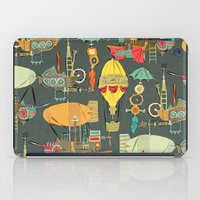 aviation iPad Cases featuring steampunk sky dark by Sharon Turner