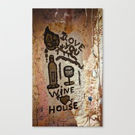 lovesong for the winelovers Canvas Print