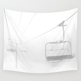 Snow Day Lift // Copper Mountain Colorado Skilift Whiteout Snowing Powder Conditions Wall Tapestry