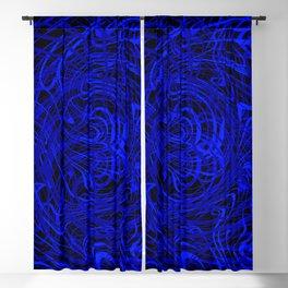 blue swirls Blackout Curtain