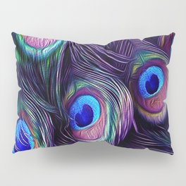 Peacock Feather Pillow Sham