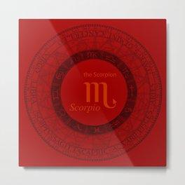 Scorpio Oct 24 To Nov 22 Metal Print