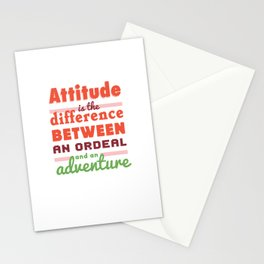 Attitude is the difference Stationery Cards