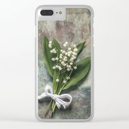 Beautiful Lily Of The Valley Clear iPhone Case