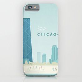 Vintage Chicago Travel Poster iPhone Case