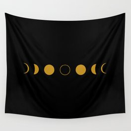 Lunar Phases Wall Tapestry