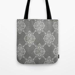 Vintage Damask - Charcoal Tote Bag