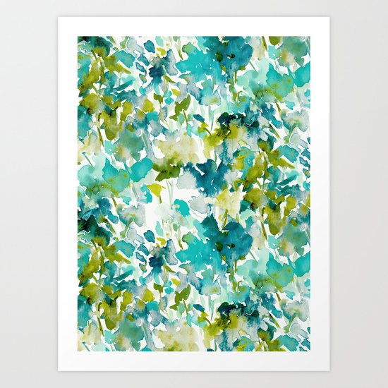 Local Color (Teal) Art Print