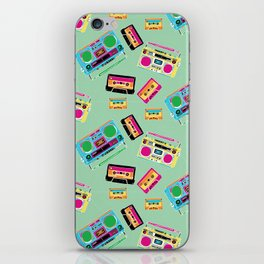 Mixtapes and Boomboxes iPhone Skin