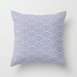 Fan pattern in blue Throw Pillow