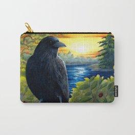 Bird 63 Bird Crow Raven Sunset Carry-All Pouch