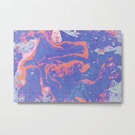 Purple Marble Pattern Metal Print