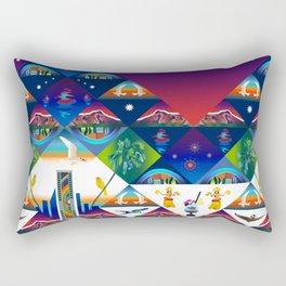 Vacation in Hawaii, Tropical sunset Rectangular Pillow