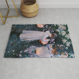 Carnation, Lily, Lily, Rose Rug