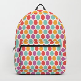 Modern colorful artistic teal pink orange easter eggs pattern Backpack