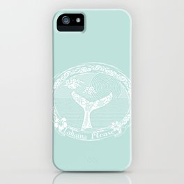 Vintage Lahaina Please White Whales Tail iPhone Case