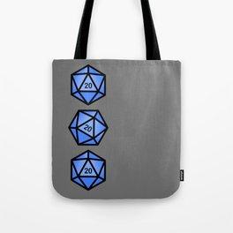 Blue d20 Tote Bag