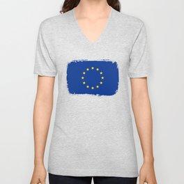 European Union Flag, EU Flag Unisex V-Neck