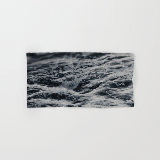 Ocean Magic Black and White Waves Hand & Bath Towel