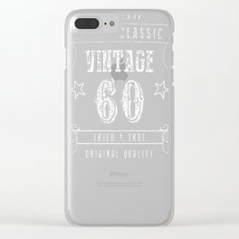 60th-Birthday-Gift---A-True-Classic-Vintage Clear iPhone Case