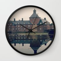 castle Wall Clocks featuring Castle by DuniStudioDesign