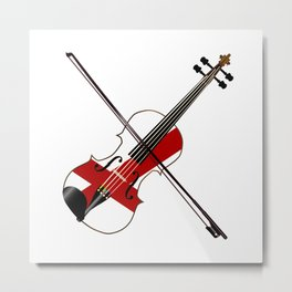 Alabama State Fiddle Metal Print