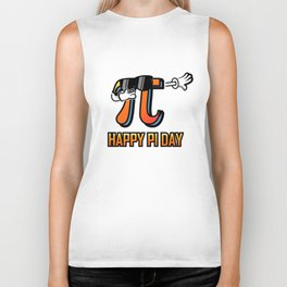 Dabbing Love Pi Day design Teacher Student Math Gift Biker Tank