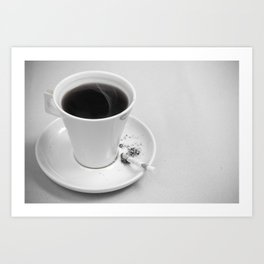 Coffee and Cigarette Art Print