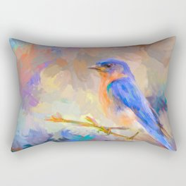 Bring On The Bluebirds Rectangular Pillow