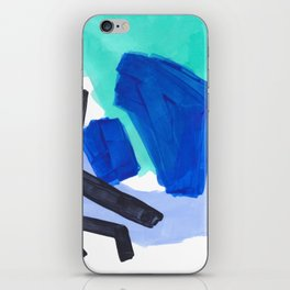 Ocean Torrent Whirlpool Teal Turquoise Blue iPhone Skin