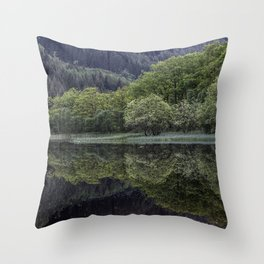 Scottish Reflections Throw Pillow