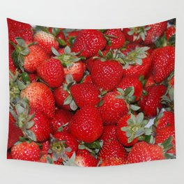 Strawberries Forever Wall Tapestry