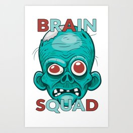 Brain Squad Gang style Graphic Art Print
