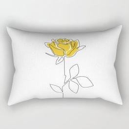 Lemon Rose Rectangular Pillow