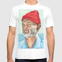 Steve Zissou Bill Murray Painted Portrait T-shirt