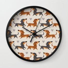 Dachshund Pups Wall Clock
