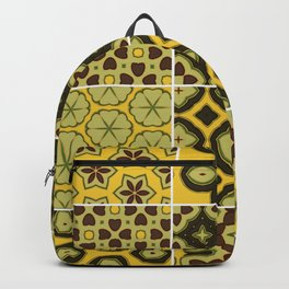 Yellow and Brown Floor Tile Backpack